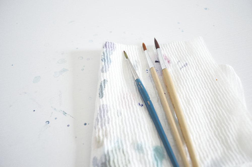 Messy paint brushes Kristen Laczi