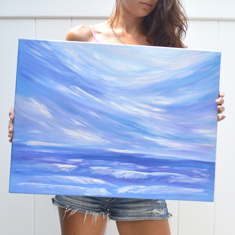 Life is Swell - Original Seascape Ocean Painting by Kristen Laczi