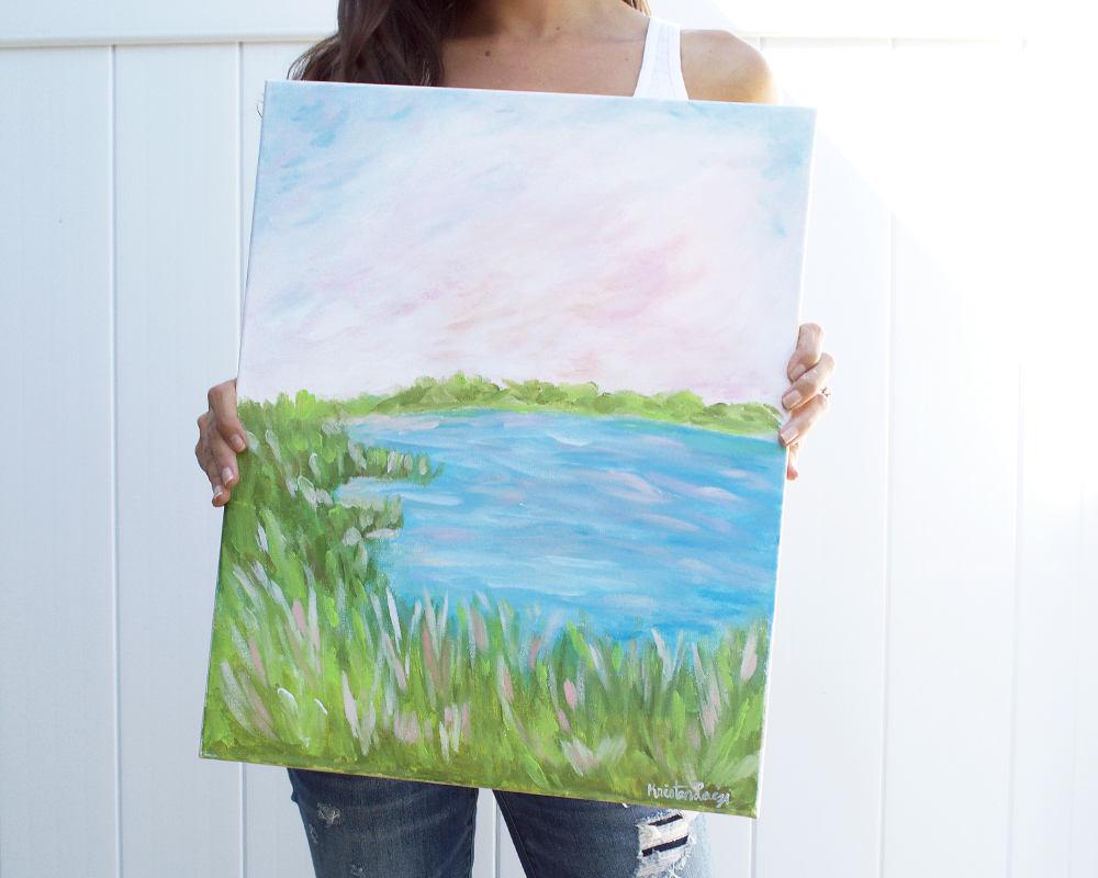 Kristen Laczi Hampton Bays Original Long Island Painting