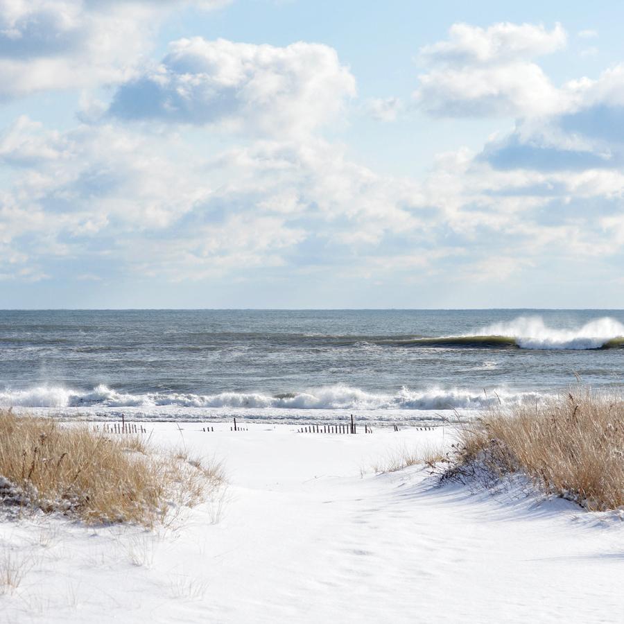 Long Island Beach in Winter by Kristen Laczi