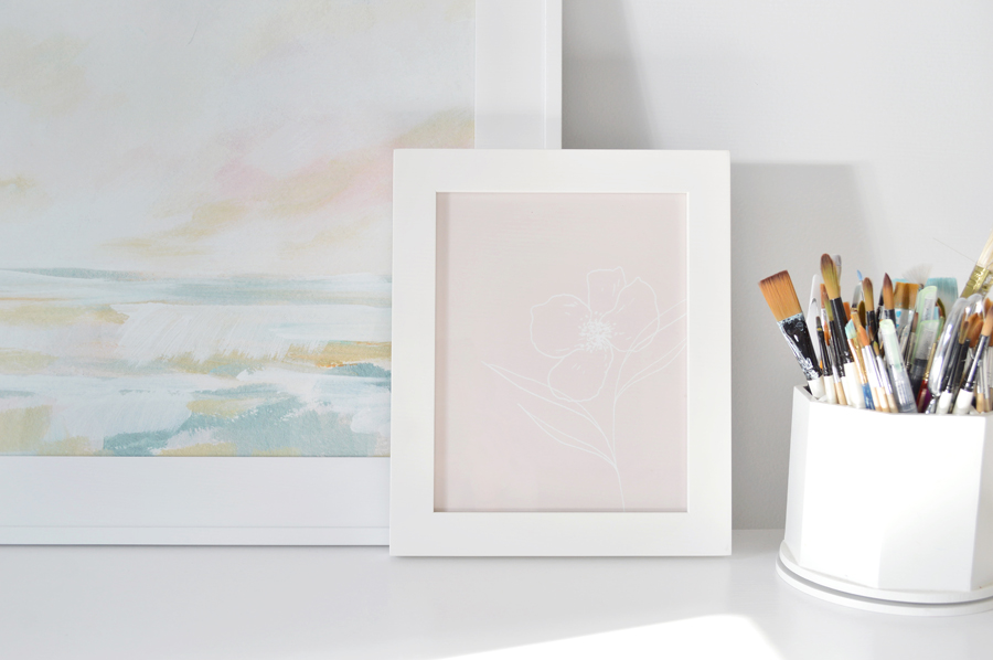 Floral Simplicity Art Print by Union Shore