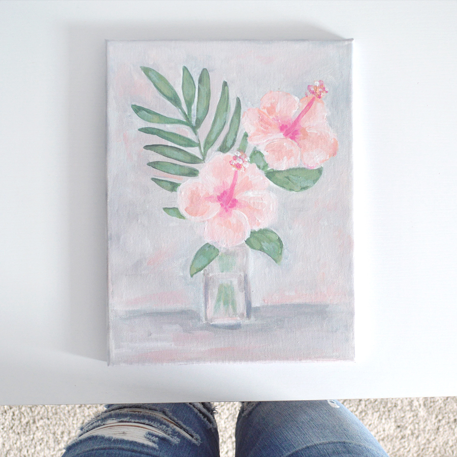 Tropical Hibiscus Painting by Kristen Laczi