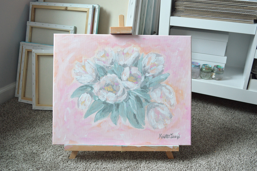Tulip Painting by Kristen Laczi