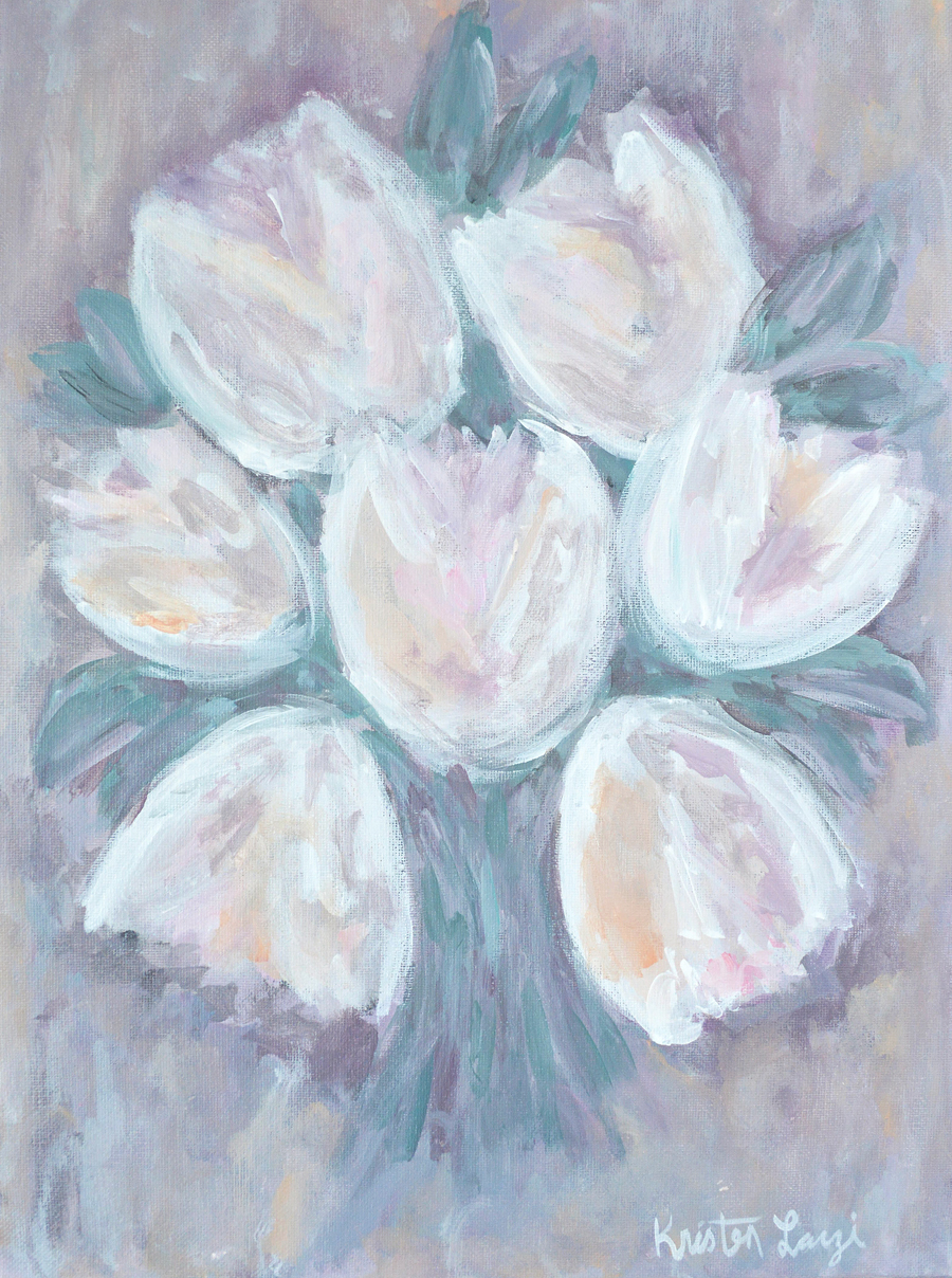 Tulip Bouquet Painting by Kristen Laczi