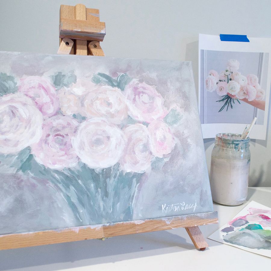 Ranunculus Painting by Kristen Laczi