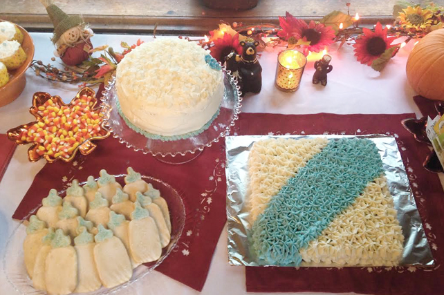fall baby shower cakes and cookies