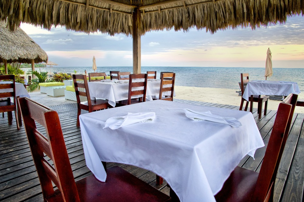 Oceanside Dining at Belize Ocean Club and Resort