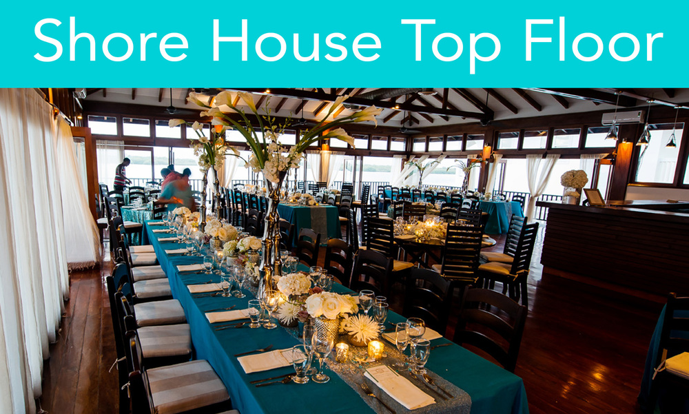 This stunning space offers vaulted ceilings and floor-to ceiling sliding windows, which can be fully opened up on three sides of the room or blacked-out. The space is fully air-conditioned and can comfortably seat 100-150 people for a formal dinner.