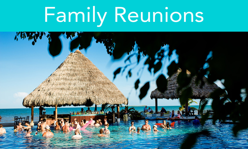 Bring everyone together under one thatch roof (or the open skies of the Caribbean). With the promise of beautiful weather and countless activities, you'll surely see family you haven't seen in years.
