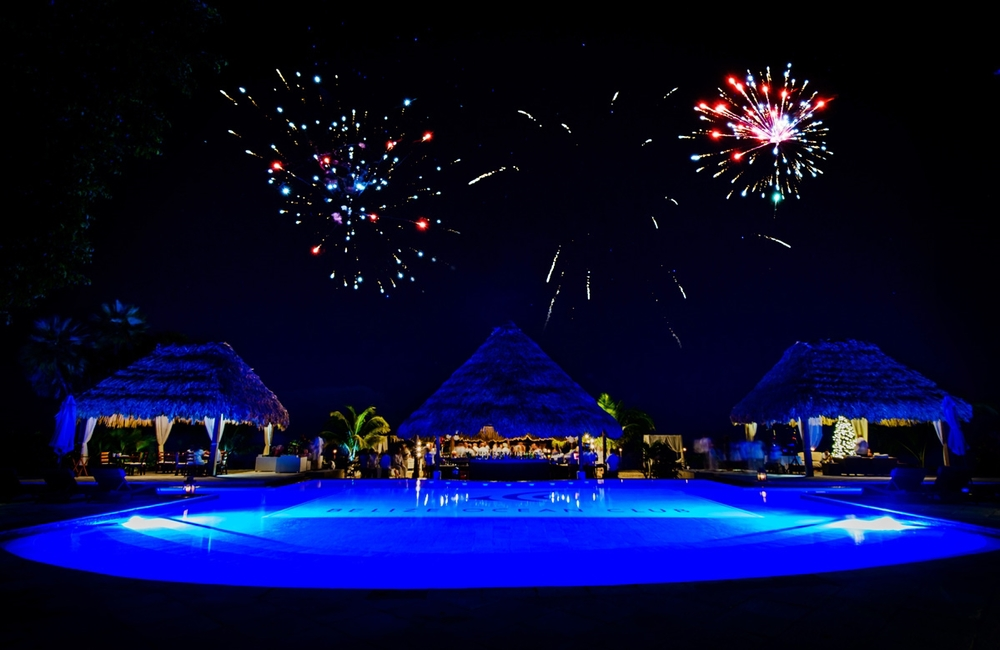 Fireworks at Belize Ocean Club and Resort