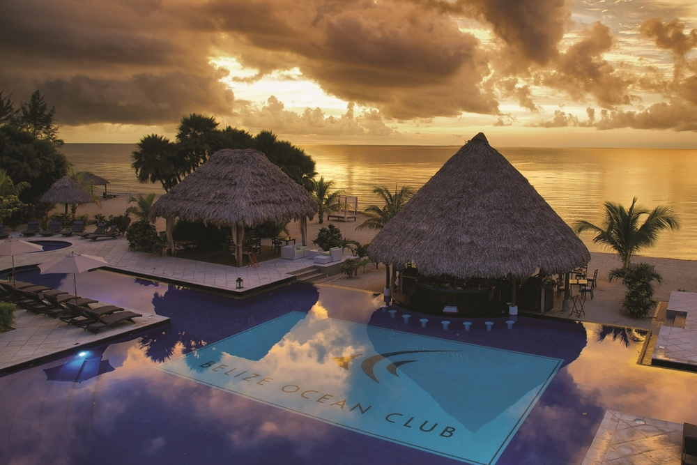 THE RESORT A tropical chic resort sitting on the best beach in Central America. Belize Ocean Club spans the width of the Placencia peninsula, boasting beautiful views of both the ocean and the lagoon and Maya mountains.