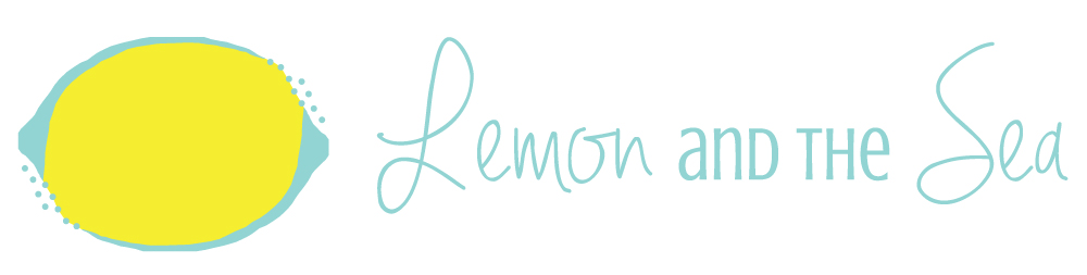 Lemon and the Sea brand and website design. This brand, built for a graphic designer, and reflective of the designer's personality and love of color, features bright images and branded collateral. The project included a logo, style guide, newsletter and blog graphic templates, welcome packet, e-commerce website, and branded images.