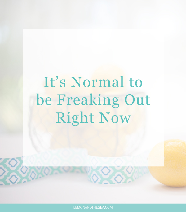 It's Normal to be Freaking Out Right Now | Lemon and the Sea:  You aren't alone in feeling overwhelmed, burnt out, and stuck in place. Even though we don't talk about it, everyone feels the same way sometimes. You're making big decisions and leaping into the unknown. It's totally okay to be freaking out. Just don't let it stop you.