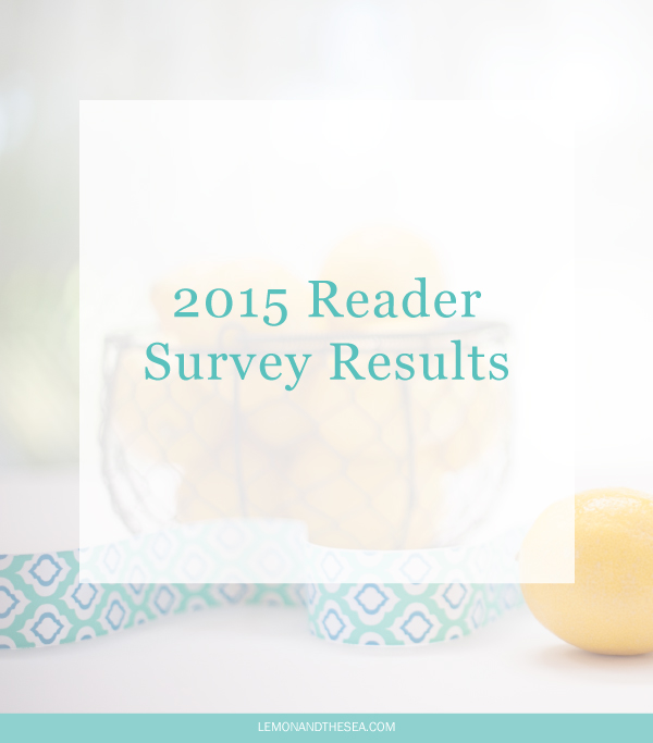 2015 Reader Survey Results | Lemon and the Sea: Results from my Reader Survey and a preview of my upcoming posts.