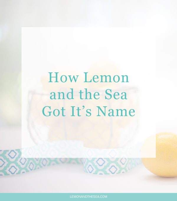 How Lemon and the Sea Got It's Name | Lemon and the Sea: The story behind the name Lemon and the Sea