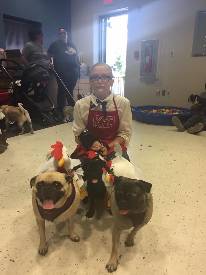 Colonel Sanders and his chickens won the Most Original Costume competion!