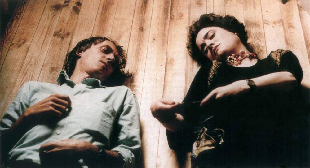 Coralina Cataldi-Tassoni  with Dario Argento on set of OPERA
