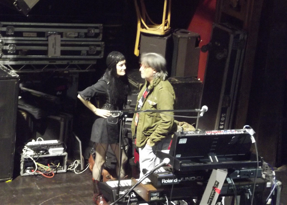 Coralina Cataldi-Tassoni and Claudio Simonetti before the show at Webster Hall NYC.jpg