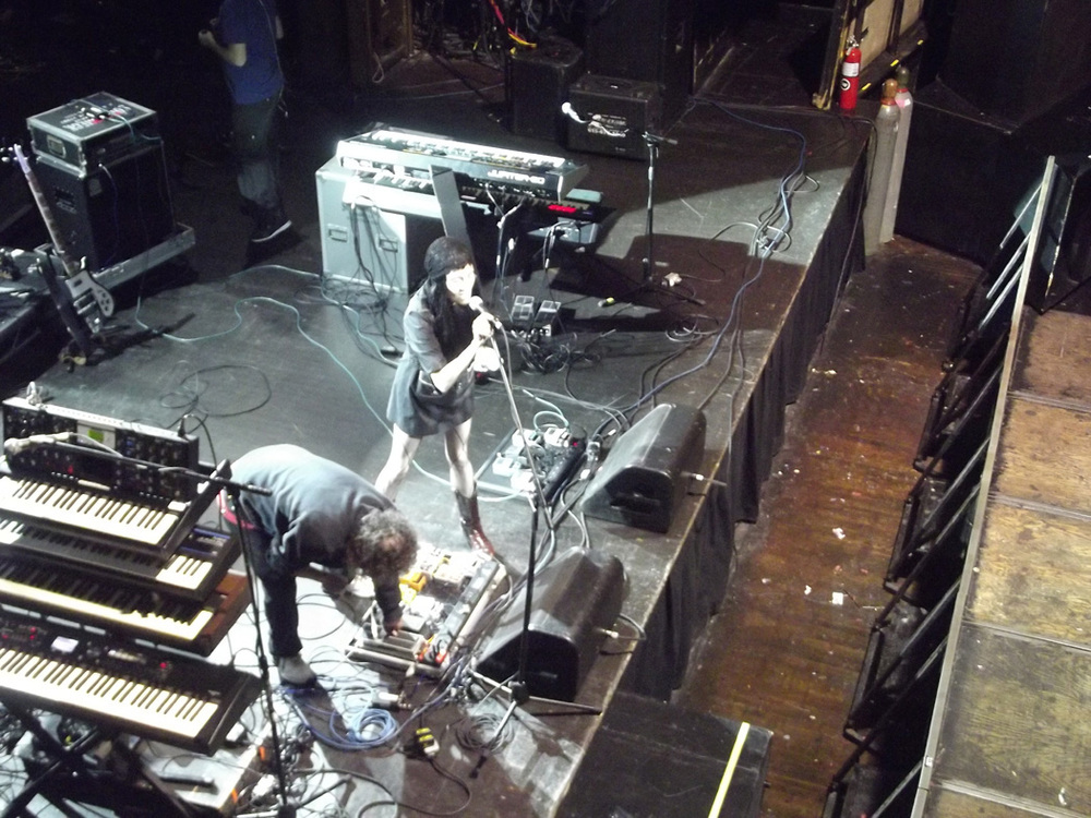 Coralina Cataldi-Tassoni during sound check at Webster Hall.jpg