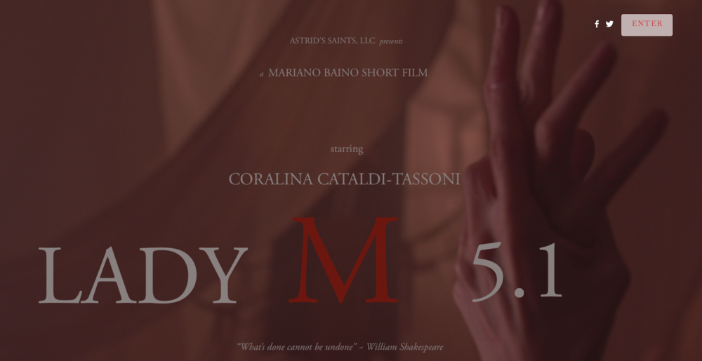 LADY M 5.1 Website Enter Page