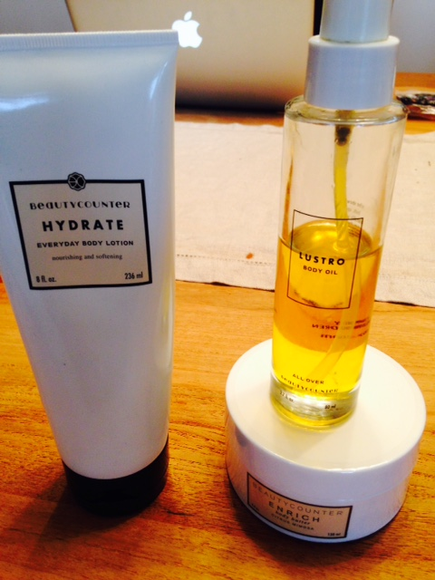 Hydrate Body Lotion, Lustro Body Oil, Enrich Body Butter