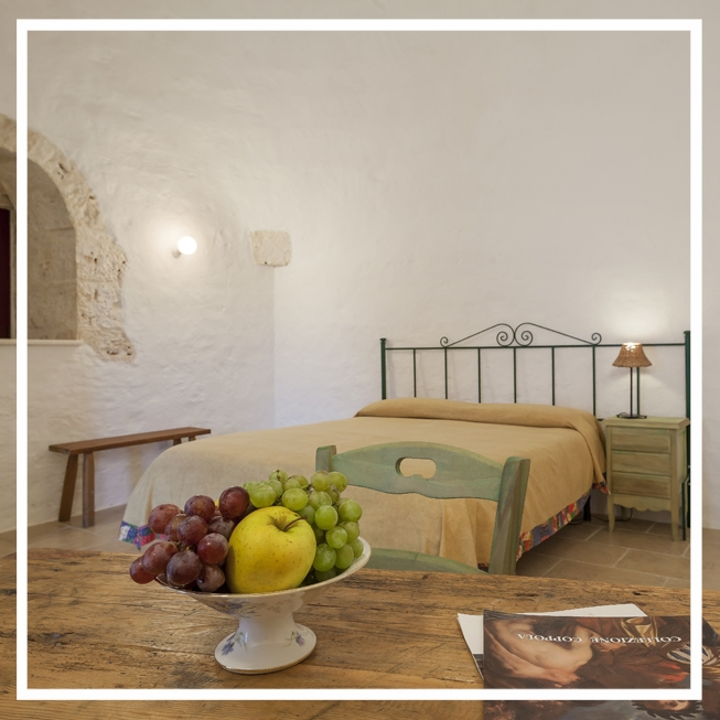 Private Room - Enjoy your own privacy in this magical Masseria. All accommodation is set up in traditional Trulli (cone homes). There is no air conditioning but the manner in which they are built is meant to combat the heat keeping the rooms deliciously cool.€1610 all inclusive per person