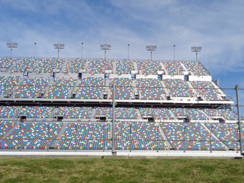 View of the Daytona Speedway Stadium from the Infield