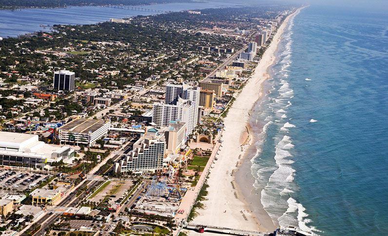 Aerial View of the Daytona Beach Hilton