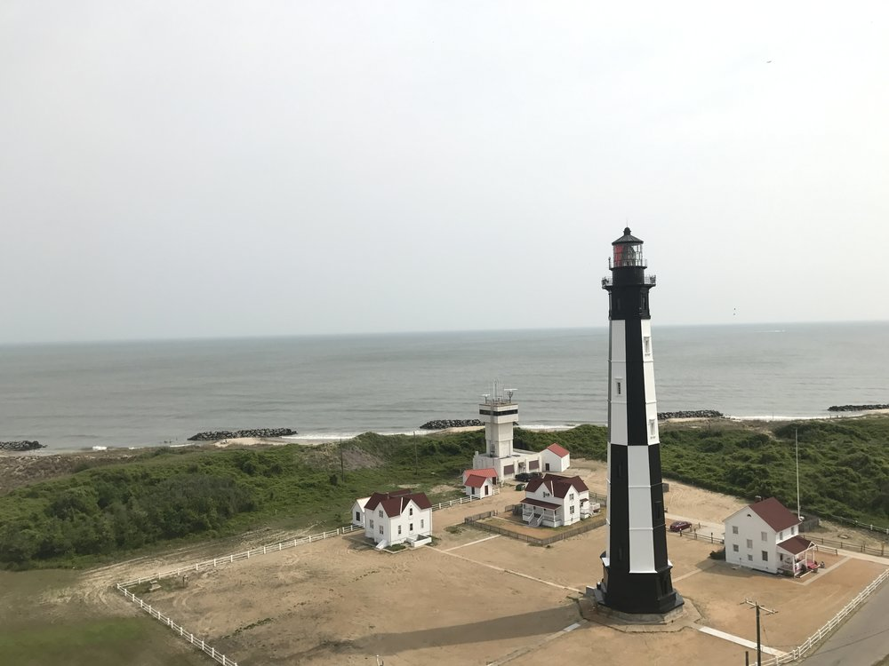 View of Cape Henry and the New Cape Henry Lighthouse