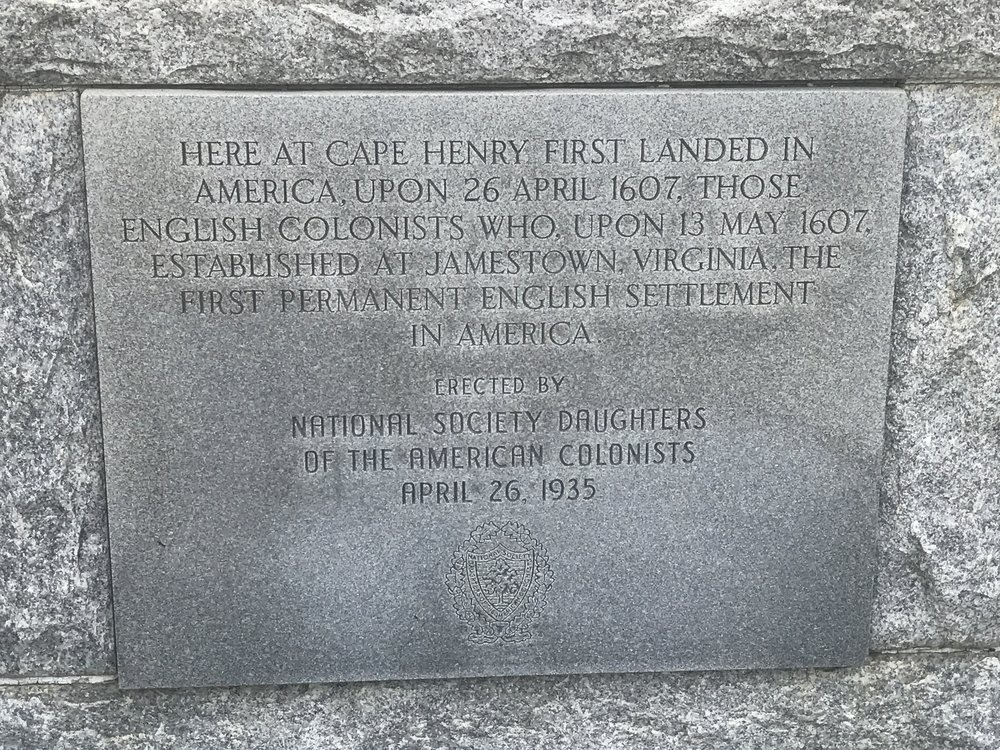 Sign on the Cross Memorial at First Landing Point