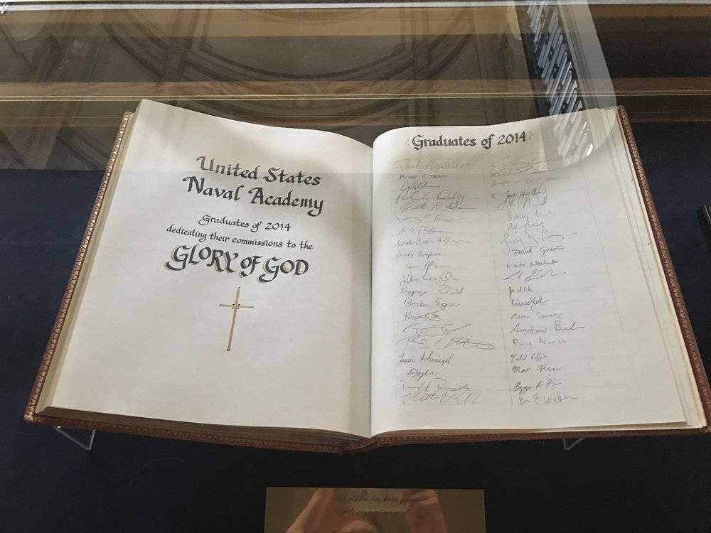 Prayer Book at the United States Naval Academy Chapel