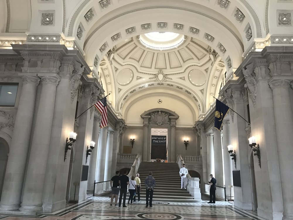 Hall at the Main Dormer of the United States Naval Academy