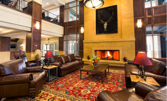 Lobby of the Drury Plaza Hotel in Downtown Santa Fe
