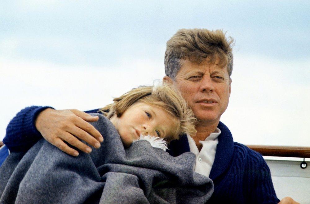 Caroline and John F. Kennedy