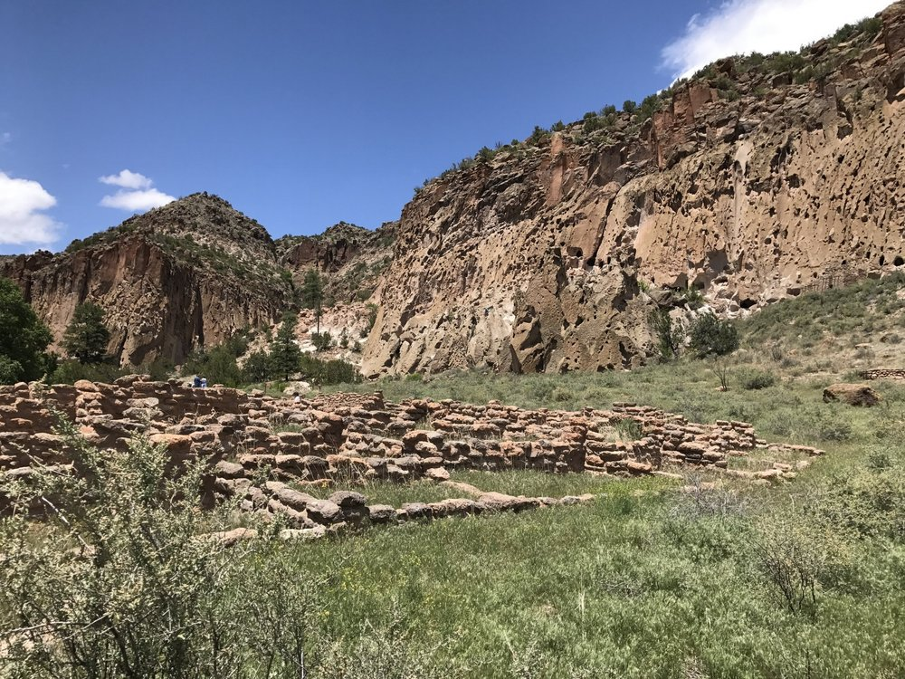 Cliffs at Bandelier National Park