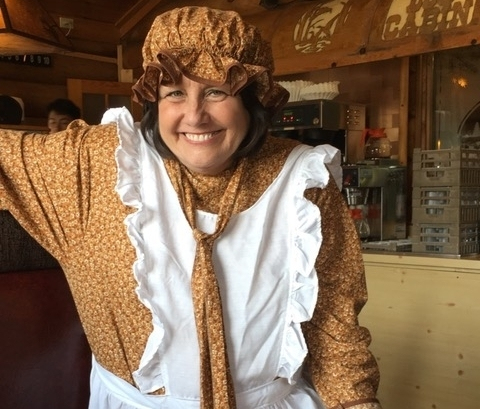 Costume Clue: Mary Dressed as a Pioneer Woman