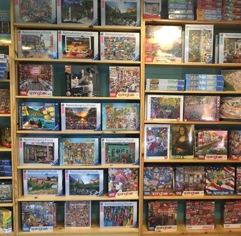Shelves of Toys at Lark Toys