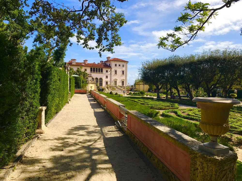 Outdoor Gardens of the Vizcaya Estate