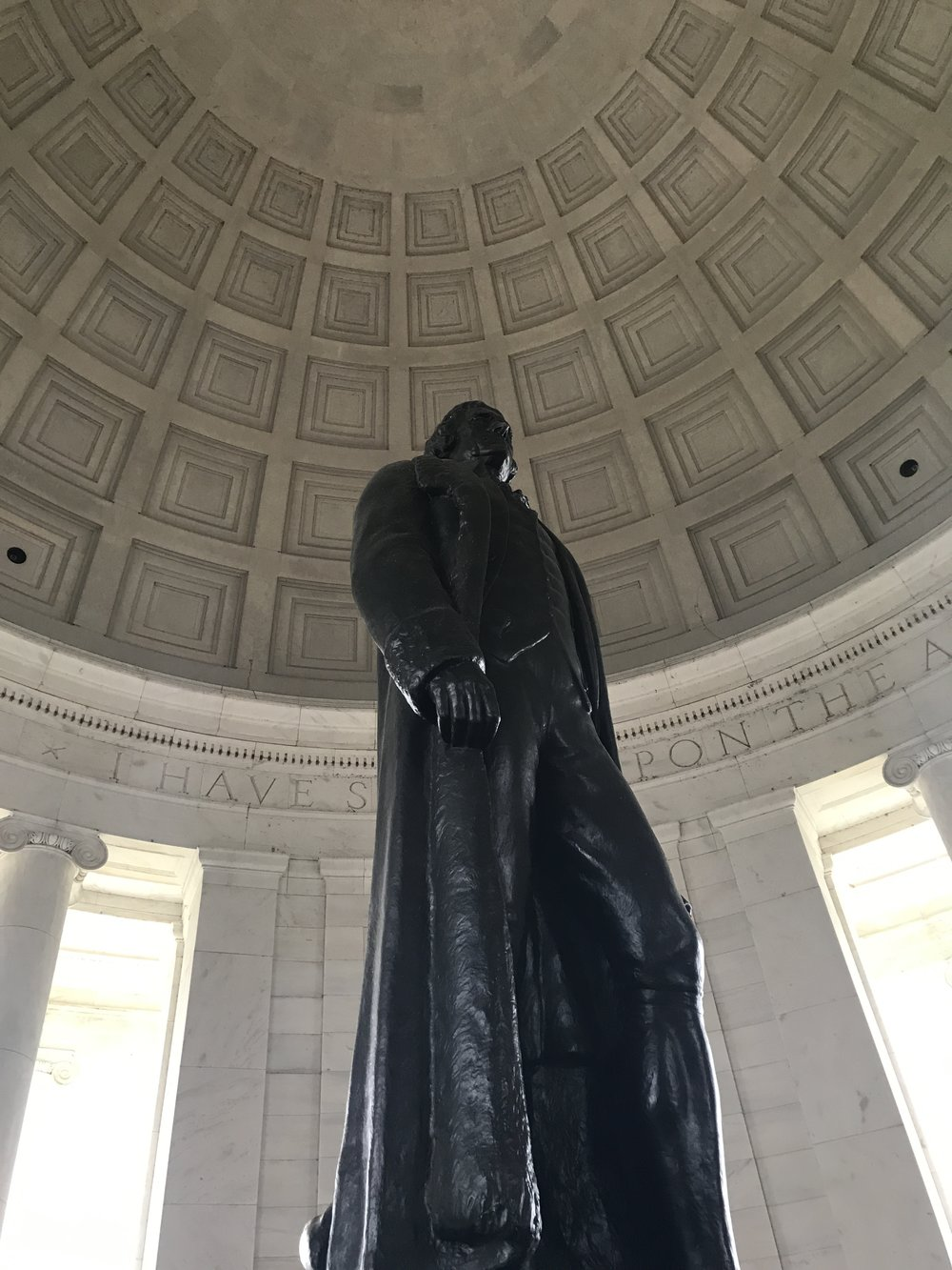 Statue of Thomas Jefferson inside the Jefferson Memorial