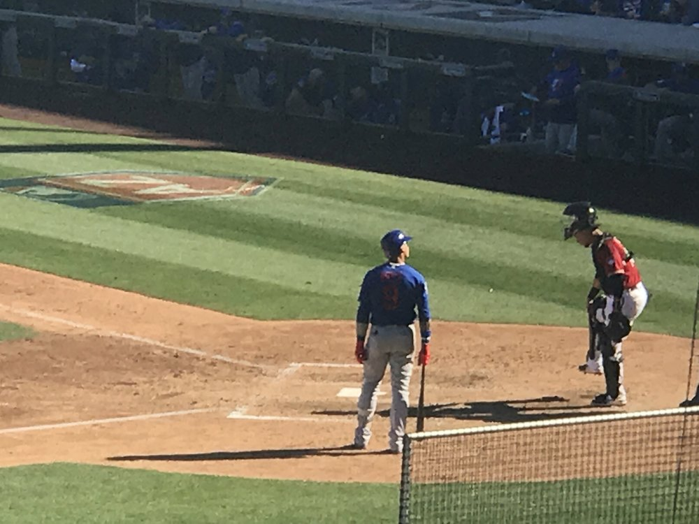 Javier Baez up to bat