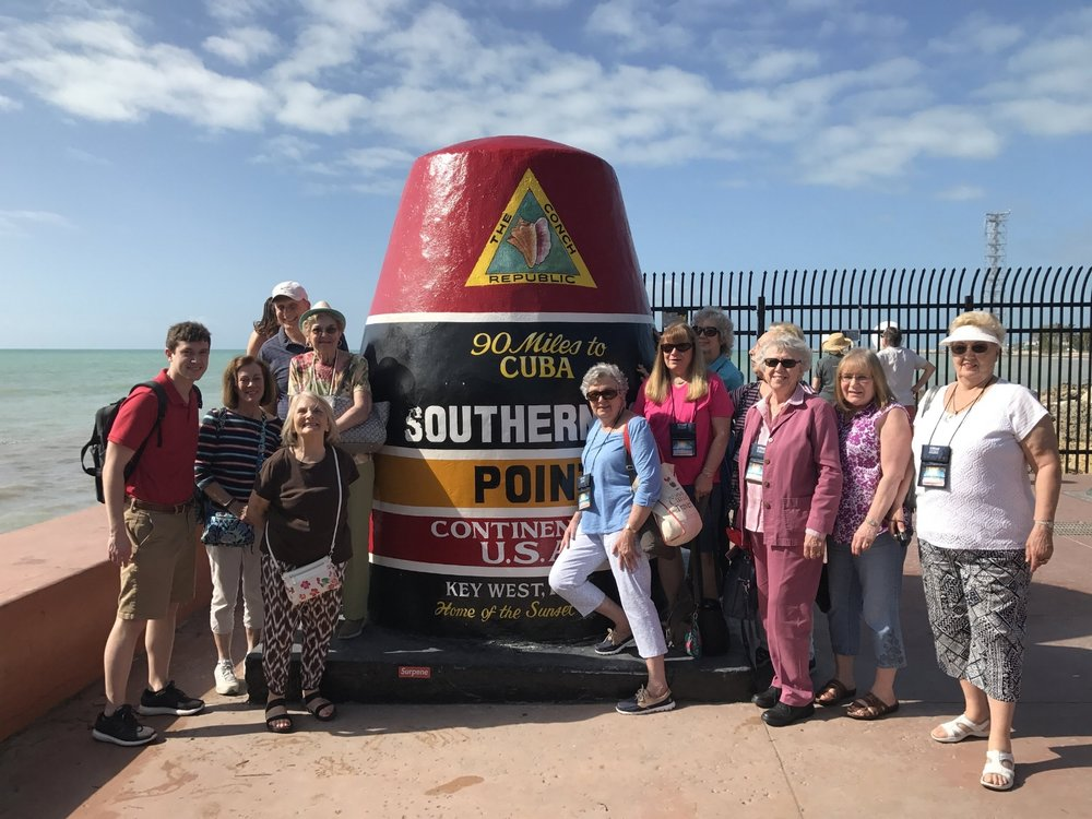 Group Photo at the Southernmost Point of the Continental USA