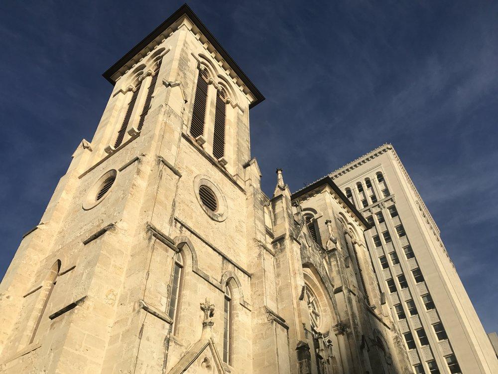 Exterior of San Fernando Cathedral in downtown San Antonio