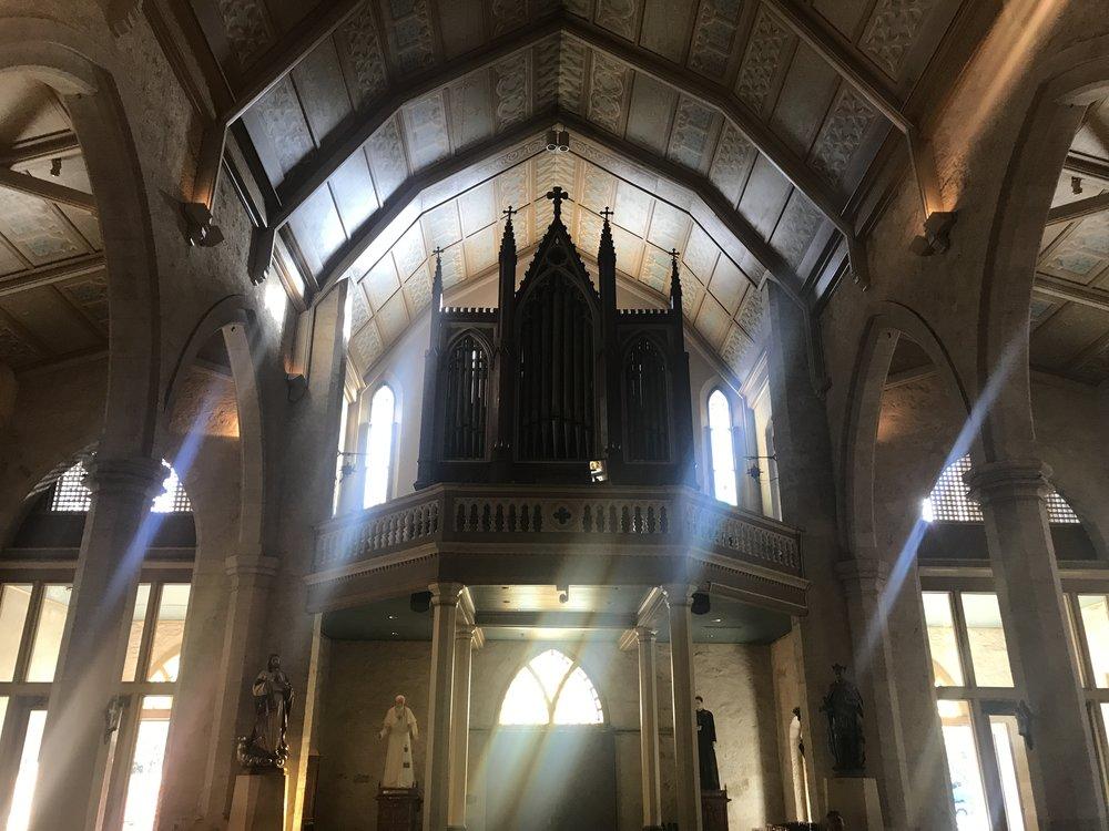 Church organ at San Fernando Cathedral