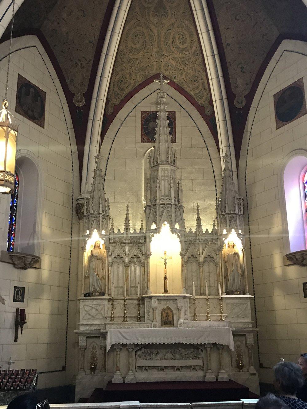Interior of the Loretto Chapel