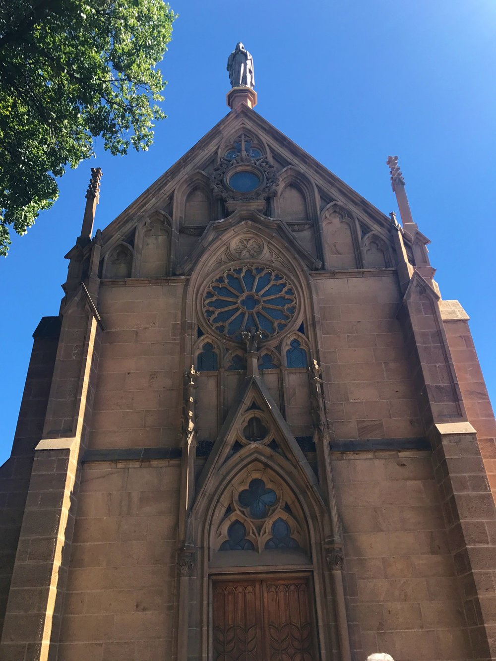 Exterior of the Loretto Chapel
