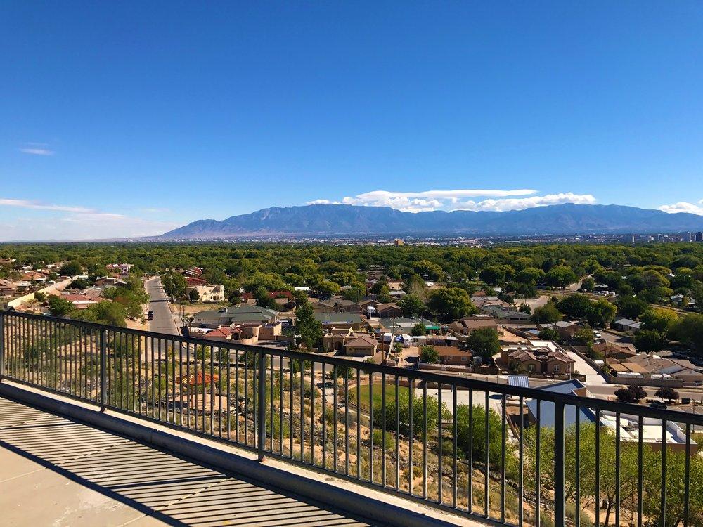 View of Albuquerque and Sandia Peak Mountains