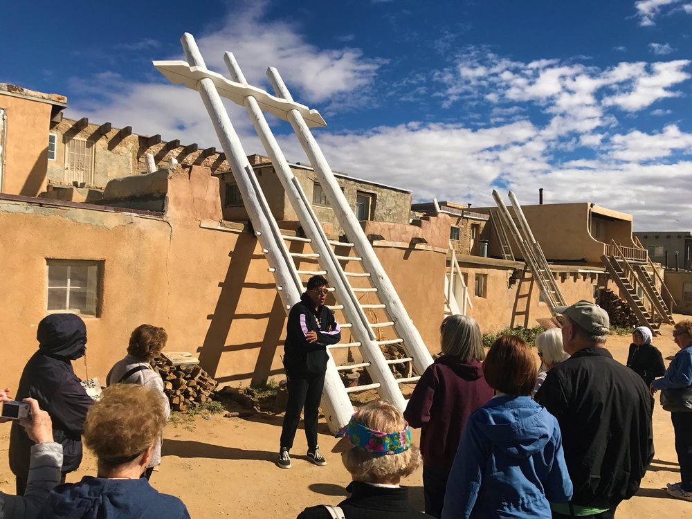 Our local guide showing us around the Acoma Pueblo