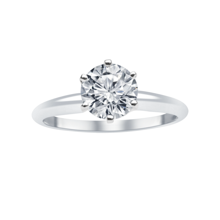 1 ct tw 14 karat white gold solitaire engagement ring solct10100