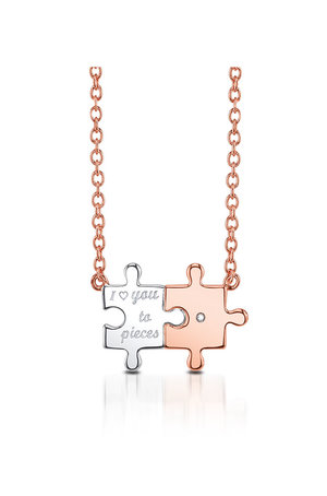 01ct tw sterling silver i love you to pieces puzzle piece tw sterling silver i love you to pieces puzzle piece pendant aloadofball Gallery