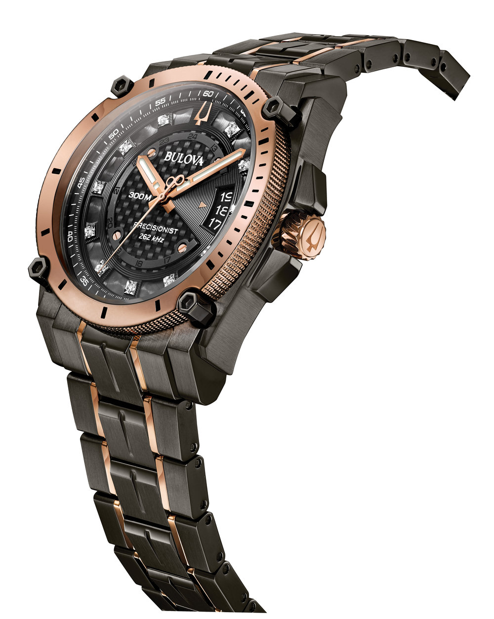 d553aba4f Rose Gold and Grey Men's Precisionist Chronograph Watch~WPREC00012~ — Jensen  Jewelers